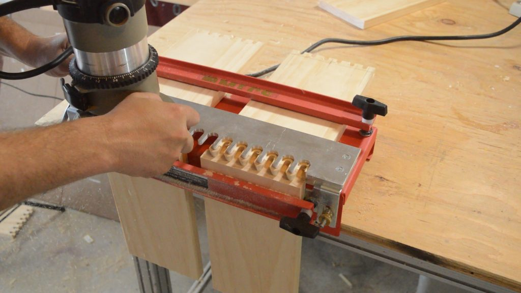 Routing with the MLCS Dovetail Jig.
