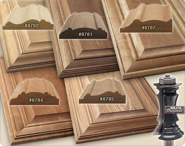 Profiles of the MLCS Mitered Door Frame router bits. & DIY Mitered Door Frame: A How-To Video -
