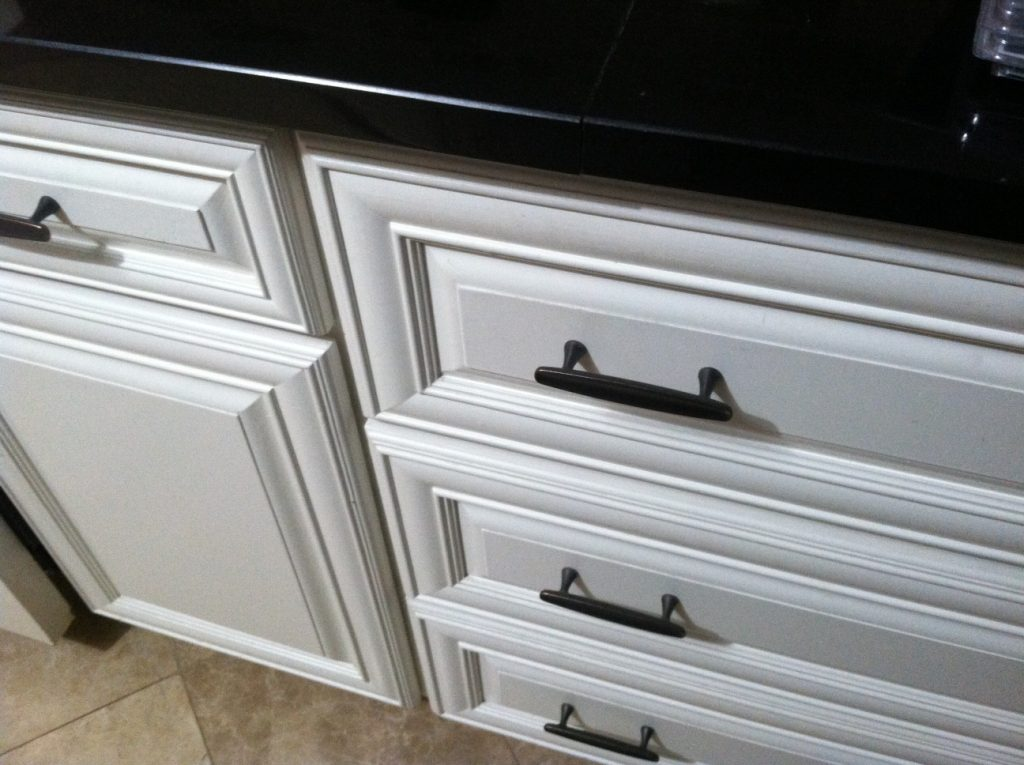 Customer-made short drawer fronts, built with MLCS Mitered Door Frame Bits.