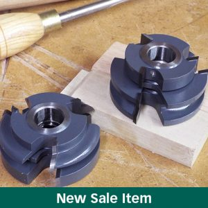 "The MLCS Woodworking Holiday Sale 6-Piece ""Shaker Rail and Stile"" Shaper Set."