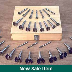 The MLCS Woodworking Holiday Sale 31-Piece Forstner Bit Set.