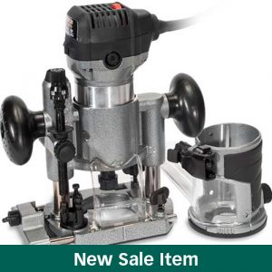 The MLCS Woodworking Holiday Deals: Rocky 30 Trim Router with Fixed and Plunge Bases.