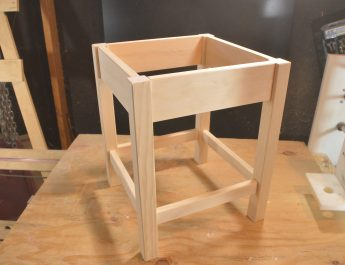 End table made with dowel joints.