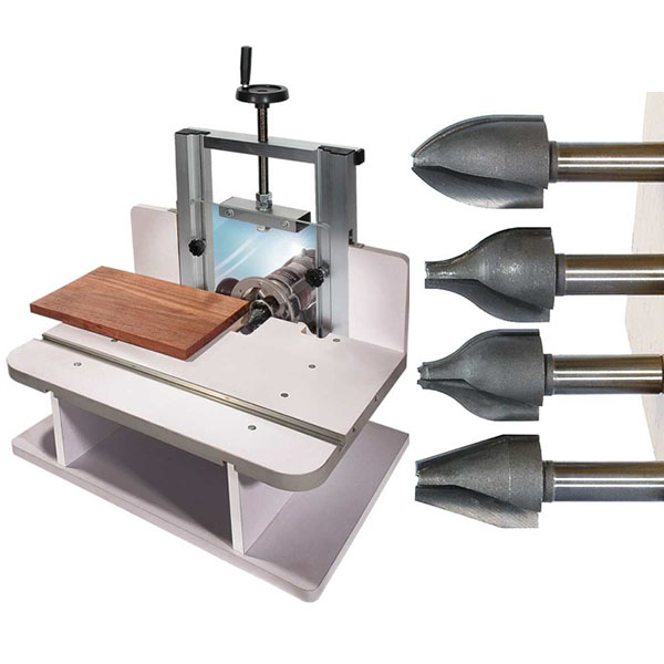 Horizontal router table with 4 vertical raised panel bits for Html horizontal table
