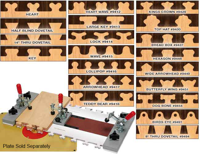 FAST JOINT Precision Joinery System with 20 Templates