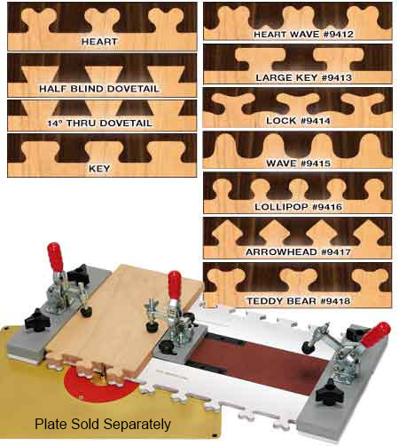 FAST JOINT Precision Joinery System with 11 Templates