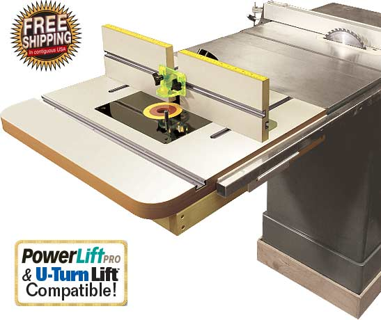 Extension Router Table Top Fence For Saws Bonus