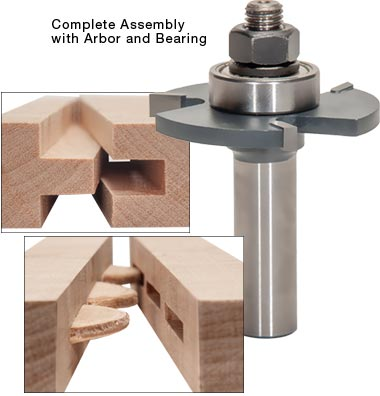 MLCS Slot Cutter Router Bits and Stackable Slot Cutter Set