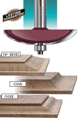 Katana® raised panel router bits