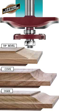 Katana® raised panel ogee with undercutter router bit