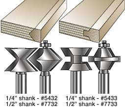 MLCS Edge Banding and Roman Ogee Router Bits
