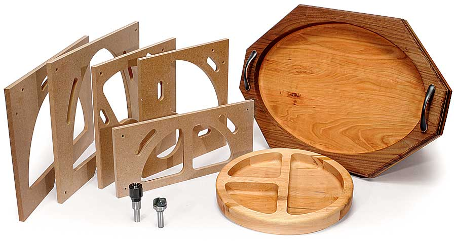 bowl and tray template kit