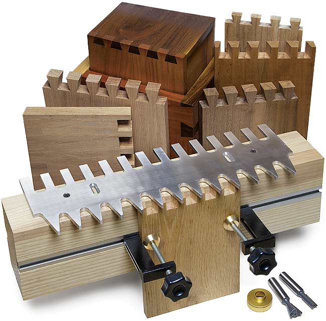 Mlcs Pins And Tails Through Dovetail Templates And Clamping