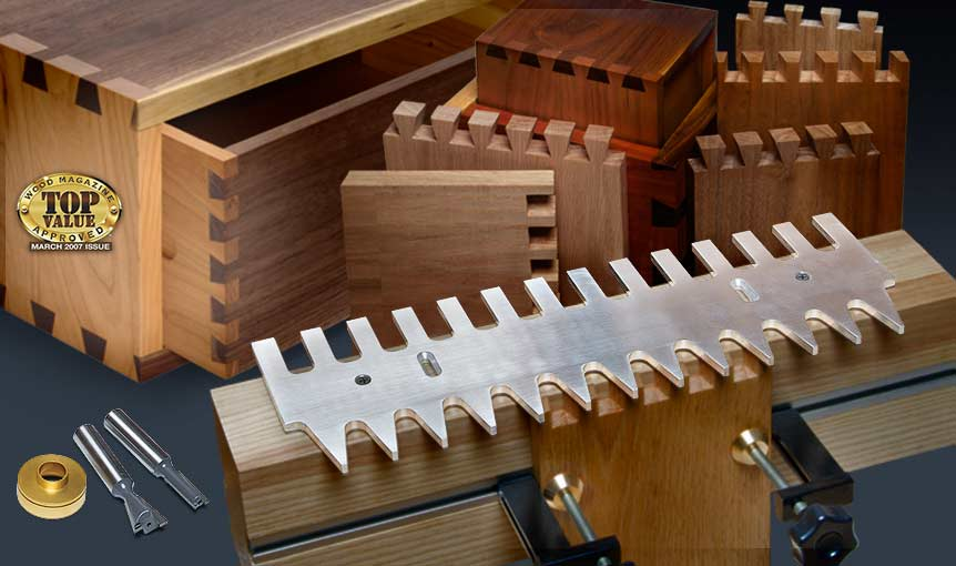 MLCS Pins and Tails Through Dovetail Templates and Clamping System