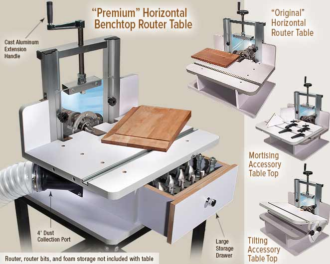 Mlcs horizontal router table for Table th horizontal
