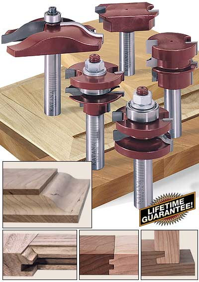katana kitchen door and drawer router bit set & Katana® Raised Panel Door and Drawer Router Bit Sets Pezcame.Com