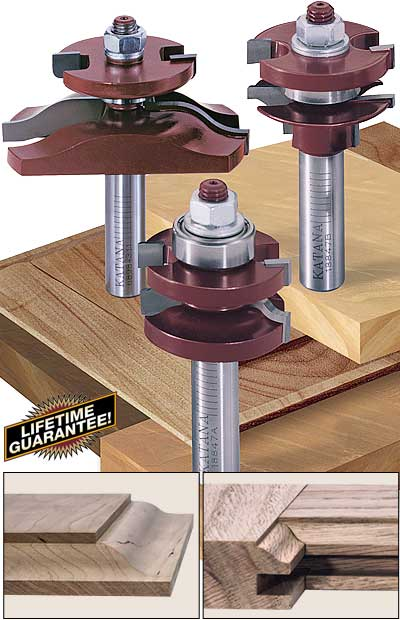 katana raised panel door router bit set & Katana® Raised Panel Door and Drawer Router Bit Sets Pezcame.Com