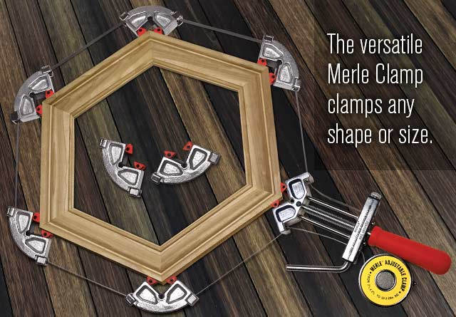 Merle Band Clamp With Self Adjusting Jaws