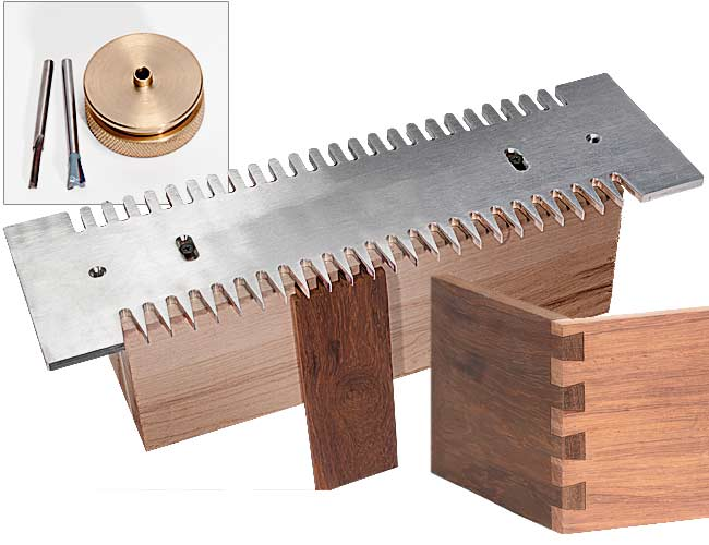 dovetail notching mlcs pins and tails through dovetail templates and clamping system