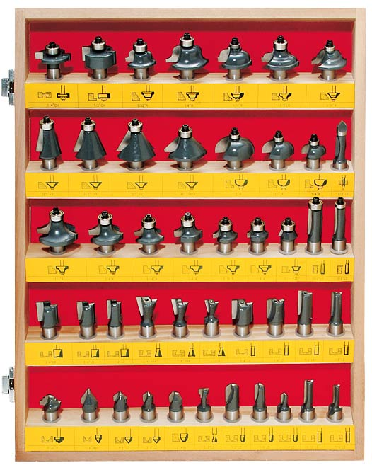 MLCS Woodworking 45 Piece Router Bit Set