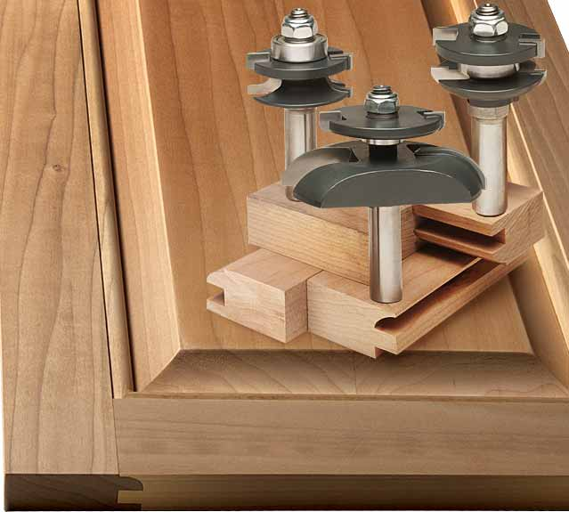 MLCS 3 Piece Round Over-Cove Raised Panel Door Router Bit Set