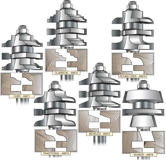 Mlcs Rail And Stile Carbide Tipped Router Bits 1