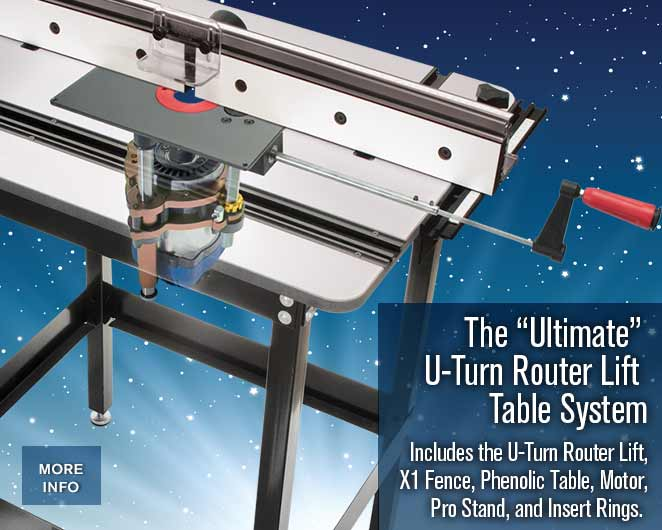 The ultimate u turn router table package mlcs u turn router lift system keyboard keysfo Image collections