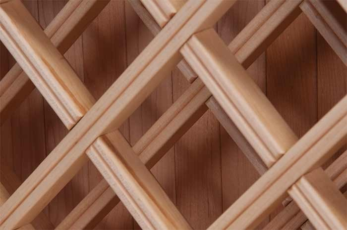 Mlcs free downloadable woodworking project plans for Lattice wine rack diy